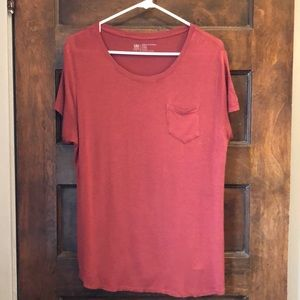 Albion short sleeve L tee rust colored